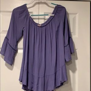 Mossimo off the shoulder shirt periwinkle- size L